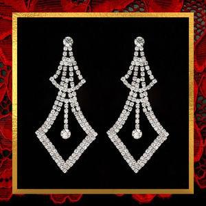 NWOT Long Rhinestone Earrings  #JWL-748